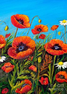 Maureen Painting - Poppies 2 by Maureen Dowd