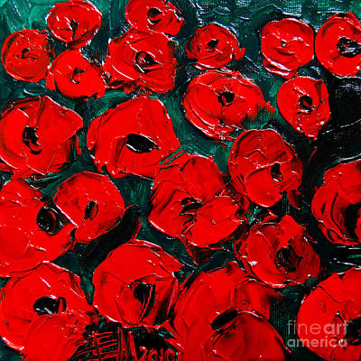 Nature Abstracts Painting - Poppies 3 by Mona Edulesco
