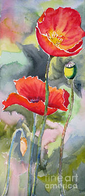 Fineartamerica.com Painting - Poppies 3 by Mohamed Hirji