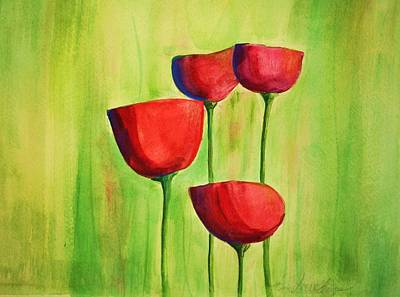 Julie Lueders Artwork Painting - Poppies 4 by Julie Lueders