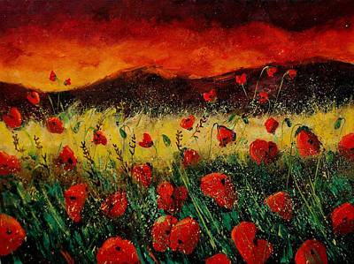 Comedian Drawings - Poppies 68 by Pol Ledent