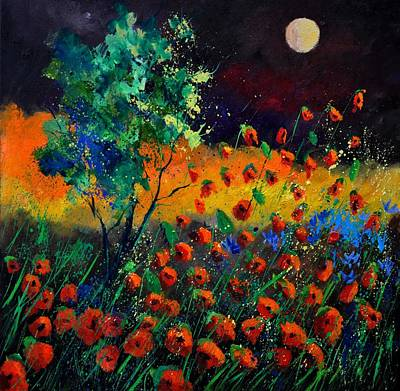 Moonshine Painting - Poppies 774111 by Pol Ledent
