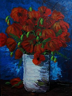 Poppies Art Print by Anne Parker