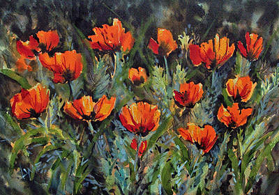 Painting - Poppies At Manito Park by Lynne Haines
