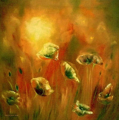 Painting - Poppies At Sunset by Gina De Gorna