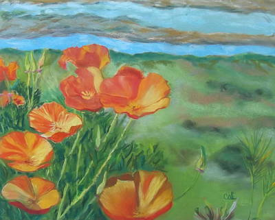 Pastel - Poppies by Calliope Thomas