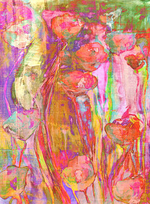 Framed Art Digital Art - Poppies by Chastity Hoff
