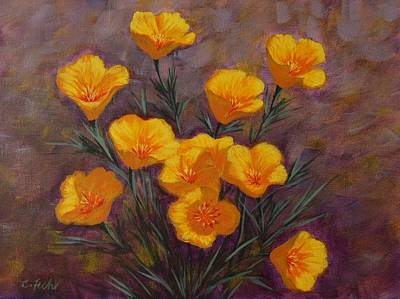 Painting - Poppies by Cheryl Fecht