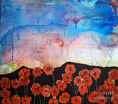 Mountain Sunset Mixed Media - Poppies by Dan Vigil