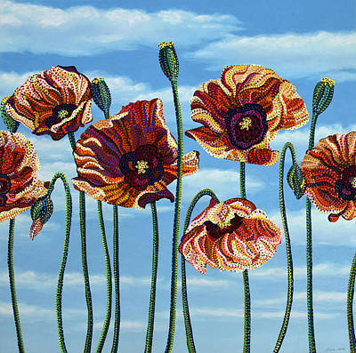 Painting - Poppies by Erika Pochybova