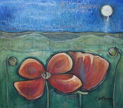 Painting - Poppies For Barbara And Paul by Laurie Maves ART