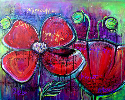 Painting - Poppies For Sonja by Laurie Maves ART