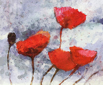 Forever Painting - Poppies Forever by Lutz Baar