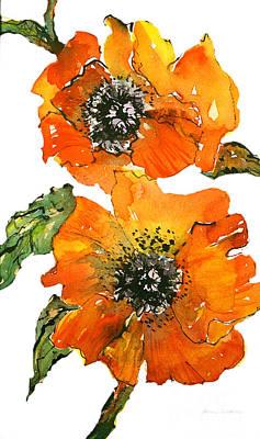 Poppies Art Print by Gwen Nichols