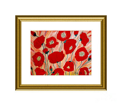Painting - Poppies. Holiday Collection by Oksana Semenchenko