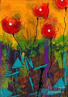 Mixed Media - Poppies I by Angela L Walker