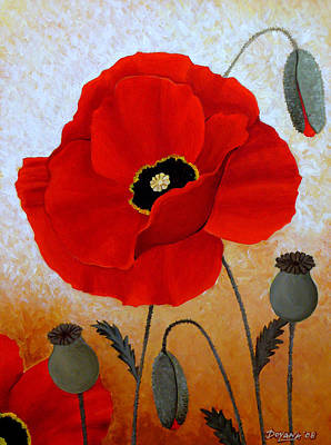 Poppies I Art Print by Deyana Deco
