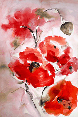 Poppies I Art Print by Hedwig Pen
