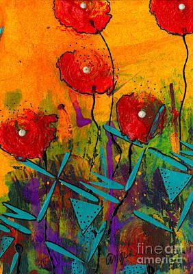 Mixed Media - Poppies II by Angela L Walker