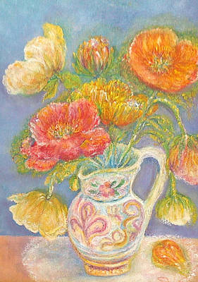 Painting - Poppies In An Italian Vase by Shan Ungar