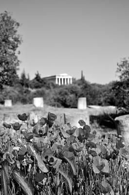 Hephaestus Wall Art - Photograph - Poppies In Ancient Market by George Atsametakis