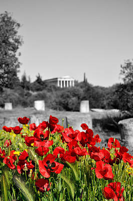Hephaestus Wall Art - Digital Art - Poppies In Athens by George Atsametakis