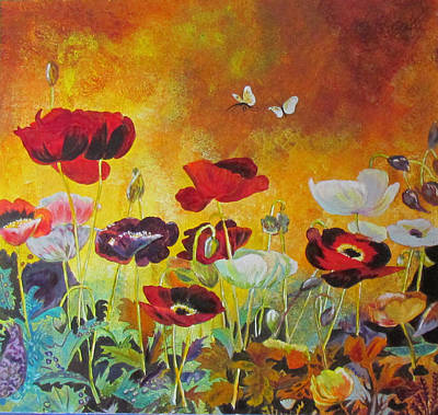Painting - Poppies In Autumn by Susan Duxter