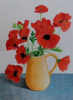 Painting - Poppies In Jug by Frank Hamilton