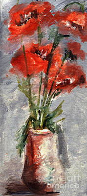 Painting - Poppies In Red Flame by Daliana Pacuraru