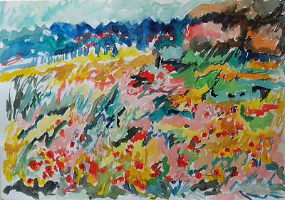 Painting - Poppies In Spring by Esther Newman-Cohen