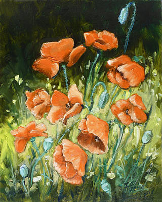 Meadow Painting - Poppies In The Forest by Irek Szelag