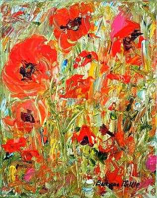 Painting - Poppies In The Sun by Barbara Pirkle