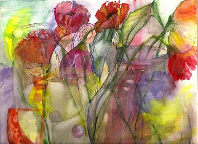 Poppies In The Sun Art Print by Claudia Smaletz