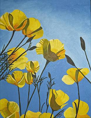 Poppies In The Sun Art Print