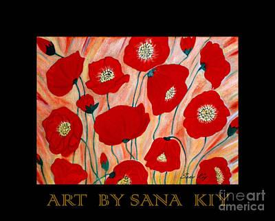 Painting - Poppies. Inspirations Collection. by Oksana Semenchenko