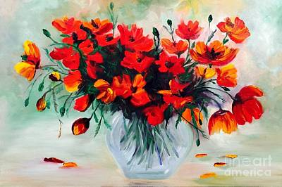 Painting - Poppies by Irene Pomirchy