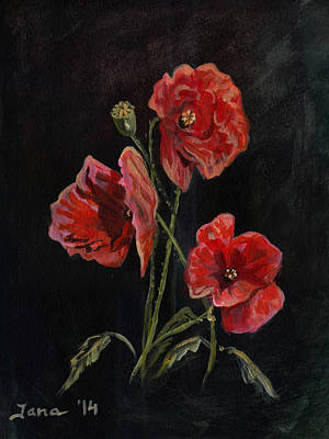 Painting - Poppies by Jana Goode