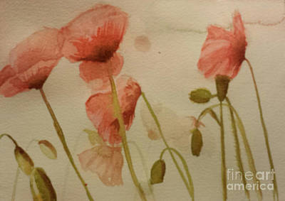 Painting - Poppies by Jeanette Hibbert