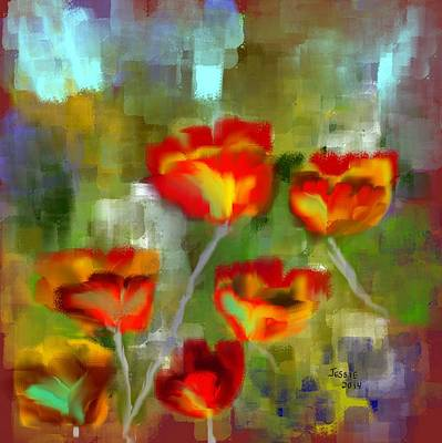 Painting - Poppies by Jessica Wright