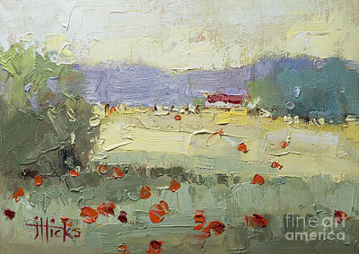 Poppies Field Painting - Poppies by Joyce Hicks