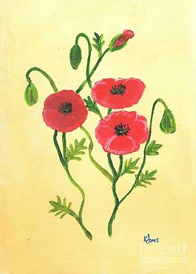 Painting - Poppies by Karen Jane Jones