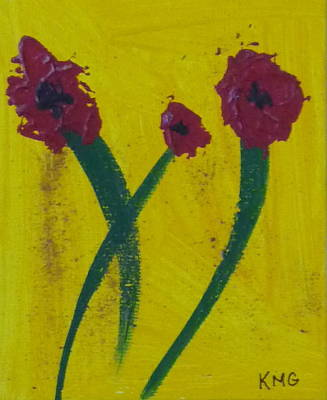 Zen Painting - Poppies by Kimberly Maxwell Grantier
