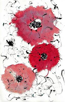 Painting - Poppies by Lesley Fletcher