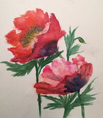 Painting - Poppies by Lucia Grilletto