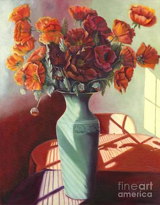 Art Print featuring the painting Poppies by Marlene Book