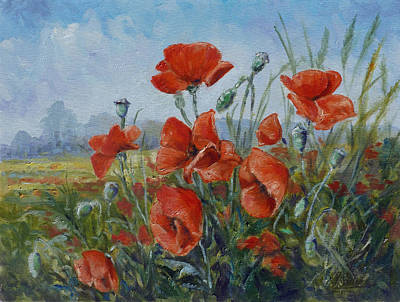 Painting - Poppies Meadow by Irek Szelag