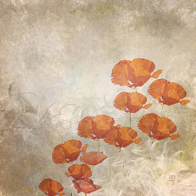 Painting - Poppies On A Foggy Morning by Jean Moore