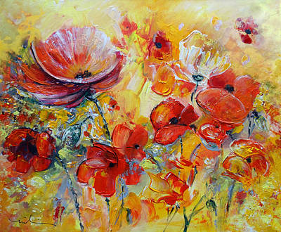 Painting - Poppies On Fire by Miki De Goodaboom
