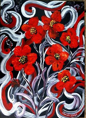 Painting - Poppies???? by Renate Voigt
