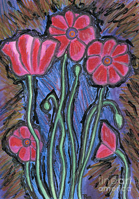 Painting - Poppies by Roz Abellera